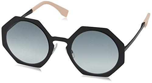 Fendi - FENDI FACETS FF 0152/S, Geometric, metal, women, MATTE BLACK/GREY SHADED(003/JJ), - Glasses Fendi Optical