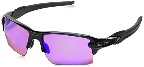 Oakley Men's Flak 2.0 XL Polished Black Prizm Golf Sunglasses ()