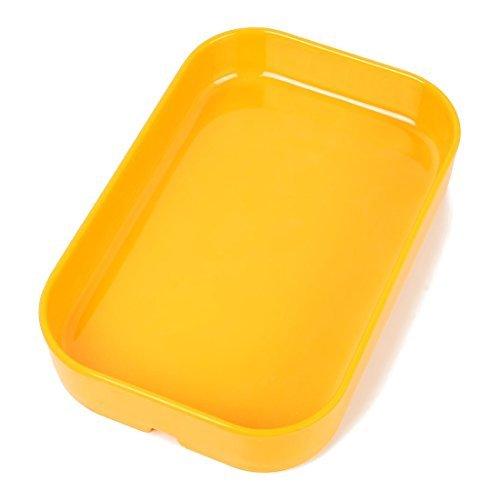 DealMux Buffet Hot Pot di plastica rettangolare vassoio piatto piatto giallo