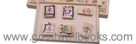 Wooden Chinese Characters Blocks - Form 1000 Chinese Characters from 144 blocks