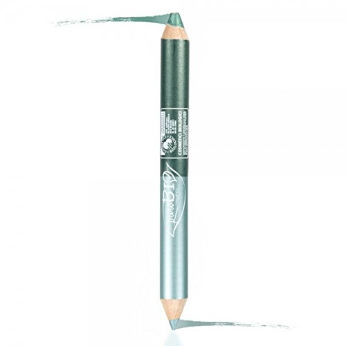 PUROBIO - Lip Pencil DUO NIGHT - Kajal Petrol Green + Emerald Green Eyeshadow - Precise Stroke, Soft Texture, Long Lasting - with Vitamins