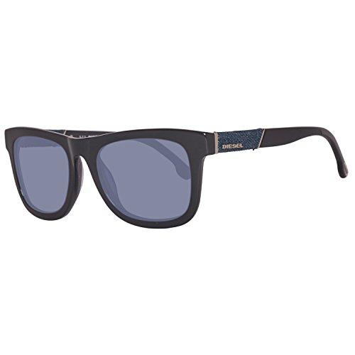 Diesel Eyewear Square Sunglasses (Black/Navy) (Designer Square Sonnenbrille)