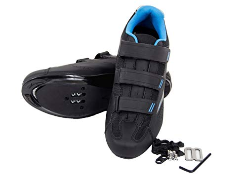 Tommaso Pista Women's Spin Class Ready Cycling Shoe - Black/Blue - SPD - 42