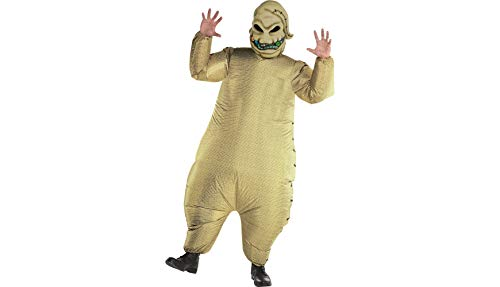 Party City The Nightmare Before Christmas Inflatable Oogie Boogie Costume for Men, Standard, with Accessories -