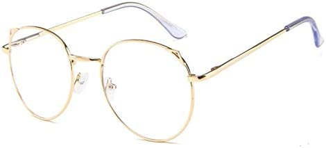 cottonlilac All-match Simple Metal Frame for Students Blue Light Blocking Glasses Lightweight Fashion Glasses Frame Gold