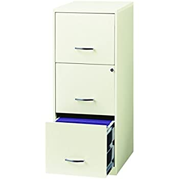 Space Solutions 20227 File Cabinet, 18-Inch White