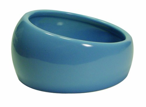 Living World Ergonomic Dish, Blue, - Dish Cat