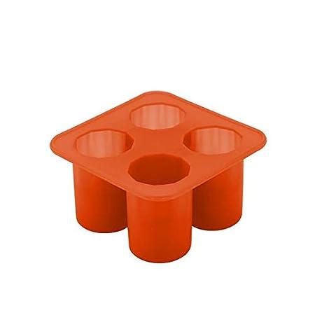 Junshion - Bandeja para cubitos de hielo con forma cilíndrica ...