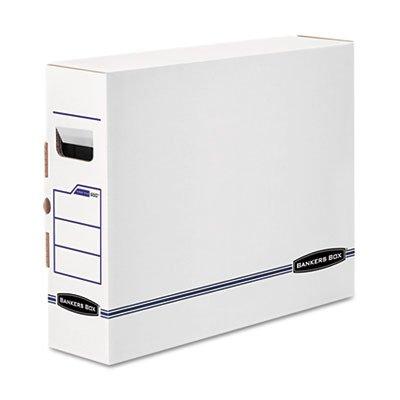 Bankers Box® X-Ray Storage Box, Film Jacket Size, 5 x 14-7/8 x 18-3/4, White/Blue, 6/Ctn