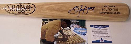 Bo Jackson Autographed Hand Signed Louisville Slugger Pro Stock Wood Baseball Bat - BAS Beckett