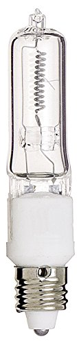 Satco 500Q/CL Halogen Single Ended Halogen, 500W E11 T4, Clear Bulb [Pack of 12] by Satco