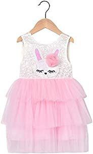 Toddler Baby Girls Easter Dress Sleeveless Bunny Lace Layered Mesh Tutu Dress Kdis Easter Outfit Clothes Girls