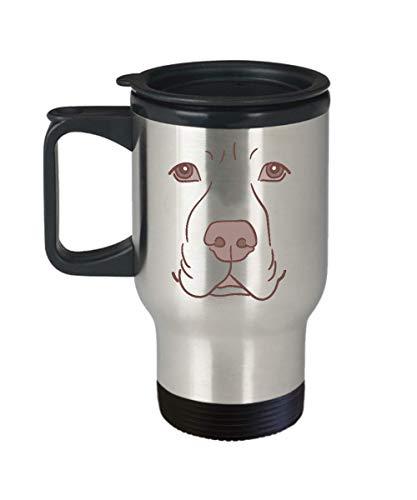 Cute Travel Mug Gifts Labrador Face Funny Dog Halloween Costume Gift Lovely Carry Travel Mug]()
