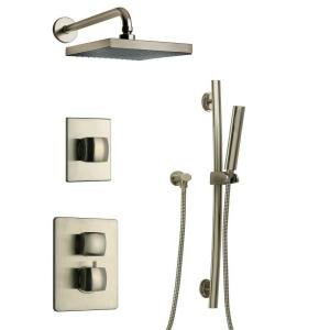 LaToscana LA-OPTION3PW Lady Thermostatic Valve with 3/4'' Ceramic Disc Volume Control, Brushed Nickel by La Toscana