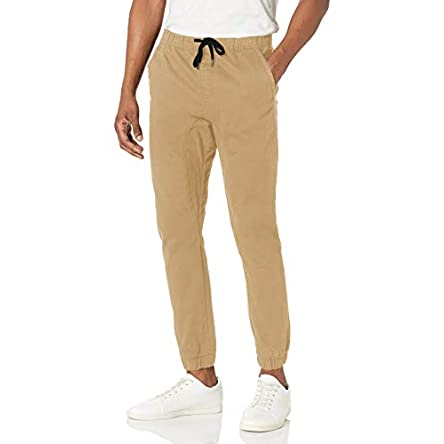 WT02 mens Jogger Pants in Basic Solid Colors and Stretch...