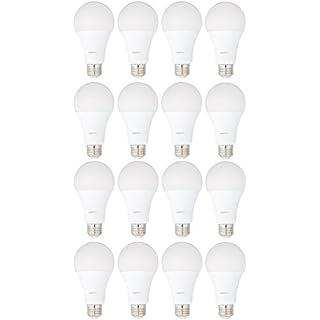 AmazonBasics 100 Watt Equivalent, Soft White, Dimmable, 15,000 Hour Lifetime, A21 LED Light Bulb | 16-Pack