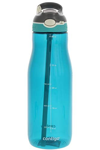Contigo AUTOSPOUT Ashland Reusable Water Bottle - Spout Shield Protects from Germs - BPA Free - Top Rack Dishwasher Safe - Great for Sports, Home, Travel, 40oz, Scuba