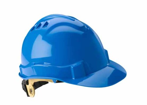 Gateway Safety 72203 Serpent High Density Polyethylene Safety Helmet with Ratchet Suspension, Type I/Class E, Blue