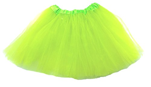 Teen and Adult Tutu Fits 12 - Adult Small (Bright Green) -