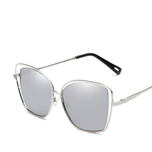 hombre sol viento grandes sol de gafas de gafas A señora Europa de y de Aoligei metal Estados sol tendencia Unidos de hueco gafas moda cuadrado HZqRIgw