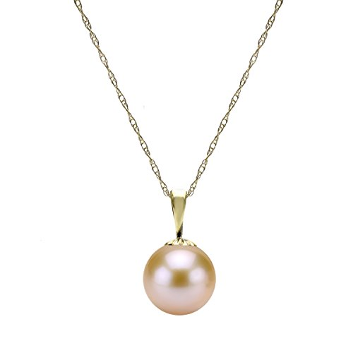 14k-Gold-Round-Pink-Freshwater-Cultured-High-Luster-Pearl-Pendant-Necklace-18