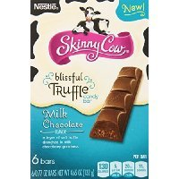 Skinny Cow Milk Chocolate Blissful Truffle Candy Bar, 6-count, 4.65-Ounce (Pack of 3)