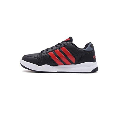 Court Vs Uomo Adidas Cloudfoam In Nera Sneakers Scarpe Pelle Aw5239 wIXRFqd
