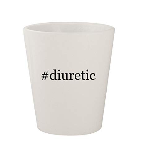 (#diuretic - Ceramic White Hashtag 1.5oz Shot Glass)