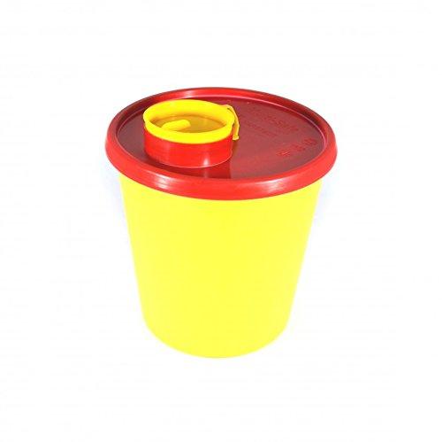 Kanülenabwurfbehälter 1,5 L Abwurfbehälter Kanülenbox Nadelbox Kanülensammler