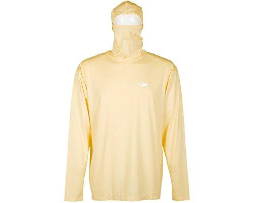 AFTCO Fish Ninja Ultra Performance Long Sleeve Shirt w/Hood - Yellow - (Aftco Fish)