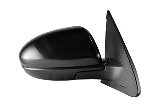 Passenger Side Unpainted Side View Mirror for 2010-2013 Mazda 3 - Power Operated, Manual Folding - Parts Link #: MA1321162