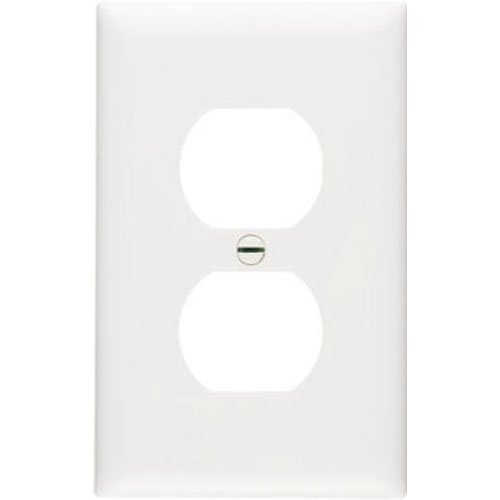 Single Duplex Wall Plate Gang - Legrand - Pass & Seymour SPO8WU Plastic Wall Plate Jumbo One Gang Duplex without Line Easy Install, White