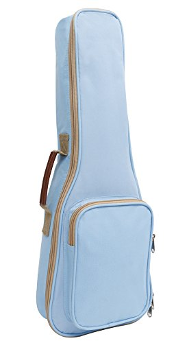 HOT SEAL 10MM Leather Handles Thick Durable Colorful Ukulele Case Bag with Storage (21in, Light blue) by HOT SEAL (Image #2)