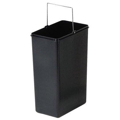 IRIS 2397I Poubelle de Recyclage Simple en Acier Inoxydable Syst/ème /à p/édale Qui maintient Le Couvercle de la Poubelle Ouvert//ferm/é jusqu/'au Prochain actionnement 21,6 x 34 x 48,5 cm