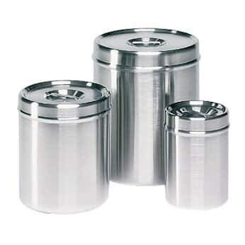 Cole-Parmer Covered Container, 304 SS, 1/2 qt