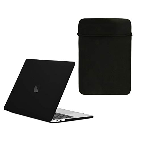 Reversible Sleeve Bag - TOP CASE - Essential 2 in 1 Rubberized Hard Case + Reversible Sleeve Bag Compatible with MacBook Pro 13
