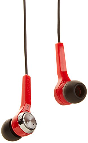 Philips SHE8500-RD In-Ear Headphones, Red