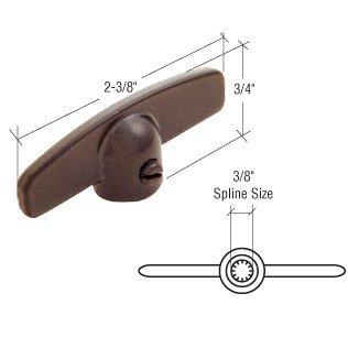 T-crank Casement Operator Handles (Star Brown T-Crank Window Operator Handle; 3/8