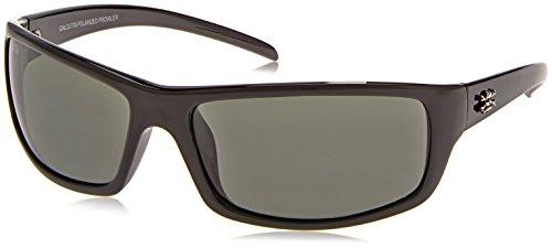 Calcutta Prowler Sunglasses (Black Frame, Blue Mirror - Sunglasses Handle