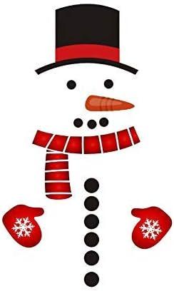 Christmas Snowman Sticker Home Refrigerator Sticker DIY Wall Door Murals Decals