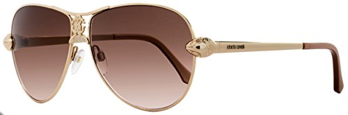 Roberto Cavalli Designer Sunglasses , Shiny Rose Gold/Gradient Brown, - Cavalli Sunglasses Aviator Roberto