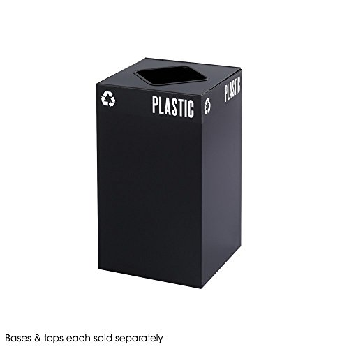 - Public Square Recycling Trash Can, Base, 25 Gallon