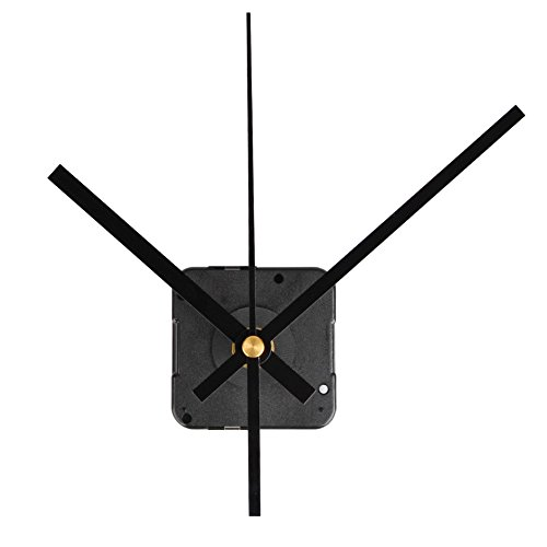 QLOUNI Quartz Wall Clock Movement Mechanisms Battery Powered DIY Replacement Clock Mechanism 2/5 Inch Maximum Dial Thickness, 4/5 Inch Total Shaft Length