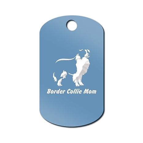 Amazon.com: Border Collie Mamá Grabado Llavero/GI Tag Mister ...
