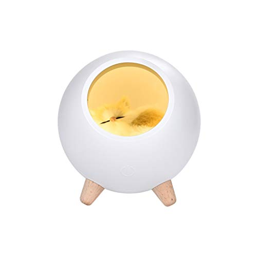 Fan-Ling Cat Pet House Shape Romantic Ambience Lamp, USB Charging Cute Cartoon MINI LED Night Light,Home Decor LED light,Ideal desk lamp, decoration light, bedside lamp, gift (White) (Difference Between Light And Dark Corn Syrup)