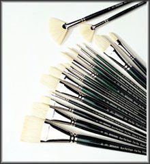 Newton Winton Hog - Windsor & Newton Winton Hog Brush Long Handled Filbert No 4 (Each) by Winsor & Newton