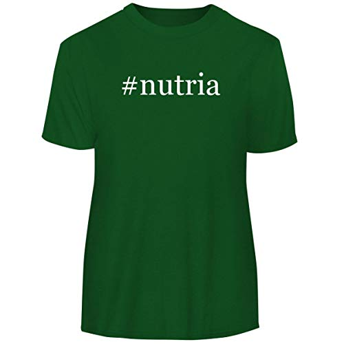 One Legging it Around #Nutria - Hashtag Men's Funny Soft Adult Tee T-Shirt, Green, X-Large - Fur Nutria Coat