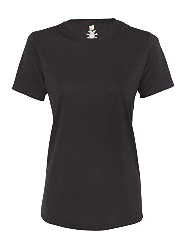 (Hanes Sport Women's Short Sleeve Cool DRI Performance Tee, Black, 3X-Large)