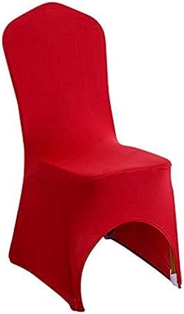 JUNGEN Housses de siège Couverture de Chaise Couverture Stretch de Chaise Housse de Chaise de Mariage Revêtement de Chaise(Rouge)