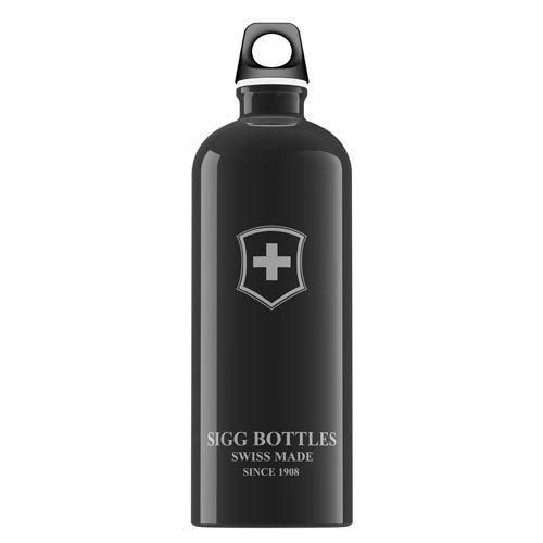 Swiss Emblem - Sigg Water Bottle - Swiss Emblem Black - 1 Liter